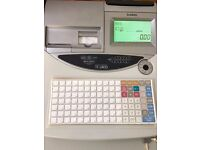 CASH REGISTER TE2400 FLAT KEYBOARD TILL THERMAL PRINTER, BACK DISPLAY IN GREAT CONDITION