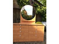 Beautiful chest of 8 draws with separate, matching mirror & vanity unit