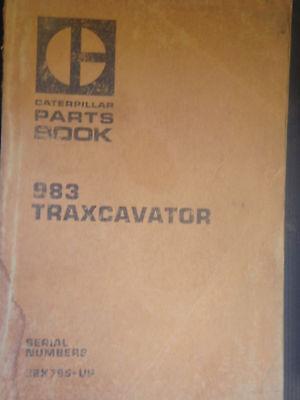 Caterpillar Cat 983 Crawler Loader Parts Book