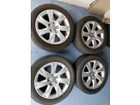 Genuine 17 inch audi vw alloy wheels