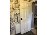 Internal timber door, six panel
