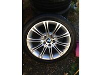 BMW 525 M SPORT ALLOYS WITH RUNFLAT BRIDGESTONE TYRES AND GOOD TREAD MINT CONDITION