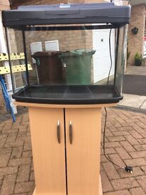 64 LITRE FISH BOX PANORAMIC TANK WITH STAND