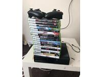 XBOX 360 WITH 2 PADS AND GAMES