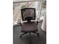 Black Square Office Chair (material)