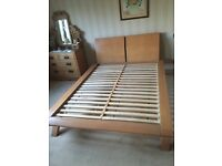 Light Oak Frame Double Bed