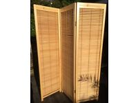Folding Bamboo room divider/screen