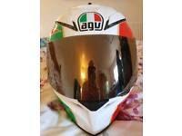 AGV Helmet fantastic condition large Rossi replica gold and clear visor
