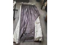 Beautiful designer made grey velvet curtains