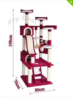 198 cm cat scratching tower cat tree cat gym Werribee Wyndham Area Preview