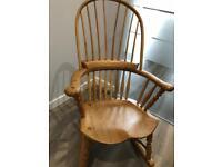 Stunning Contemporary Solid Modern Oak Rocking Chair