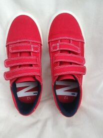 Boys Red Size 12 Canvas Shoes from Next, never worn
