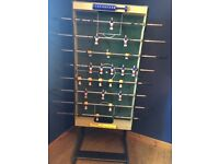 Football table in excellent condition! Can be stored in upright as shown in photograph