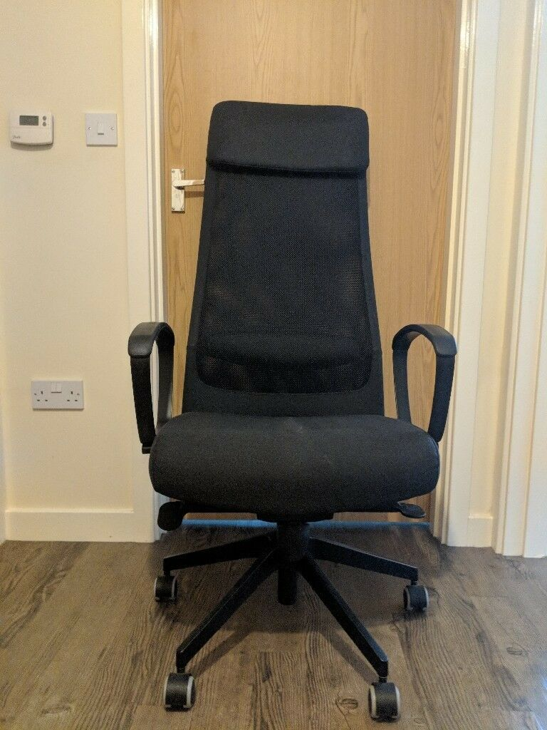 Ikea Markus Swivel Office Chair Dark Grey Fabric In Coventry West