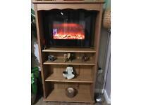 Cabinet shelves unit storage wood brown
