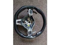 Vw volkswagen scirocco golf mk6 steering wheel with dsg paddle shift - airbag