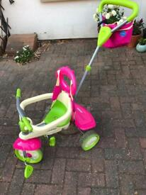 SmarTrike TRIKE Pink and Green for Kids Toddler USED