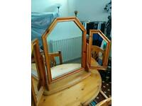 Dressing table mirror pine