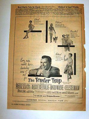 THE TENDER TRAP - Movie ad - 1955- SINATRA, DEBBIE REYNOLDS, WAYNE, CELESTE HOLM
