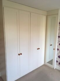 Fitted wardrobes cream