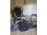 Quinny buzz 3 travel system, can be turned into buzz 4 with extra front wheels