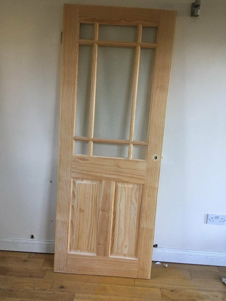 internal door wickes truro half glazed softwood door. Black Bedroom Furniture Sets. Home Design Ideas