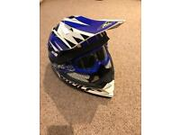 Wulfsport Motocross Junior Helmet and Goggles