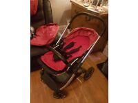 Oyster 2 pram excellent condition. Hood, raincover, baby snuggle attachment.