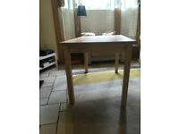 Ikea beech block topped dining table