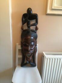 Carved African mask