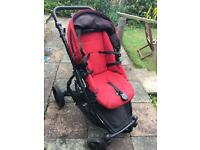 Britax b-dual double pushchair Red in good condition