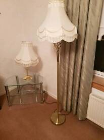 1 large floor lamp 2 small