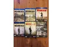 The walking dead blu ray and DVDs Season 1,2,3,4,5,6