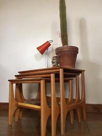 SOLDTeak nesting table mid Century vintage retro
