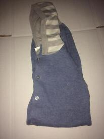Blue,white and grey child knitted onesie