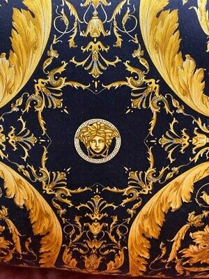 VERSACE PILLOW CUSHION SILK BAROQUE MEDUSA original new SALE