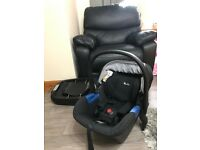 Silver Cross isofix and baby car seat