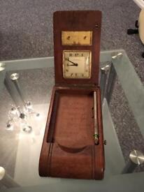 Desk Clock and pen box (old )