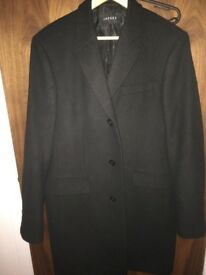 JAEGER MENS BUSINESS OVER COAT - 42 CHEST - NEW, BEAUTIFULLY MADE, TAILORED-FIT, HARDLY WORN ! £165
