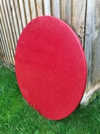 Beautiful Round New Red Quartz table top £ 50