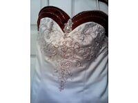 Stunning size 14 Mori Lee wedding dress compleye with matching wrap