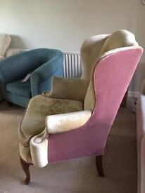 Armchair in need of renovation