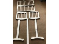 Mothercare white swinging crib and mattress, like new!