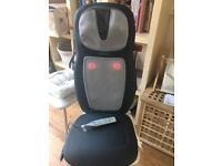 Homedics massage shiatsu/ heat strap on chair massager for back and neck