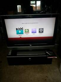 LG LCD plasma tv and cabinet
