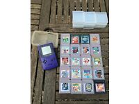 Game boy colour with 20 games