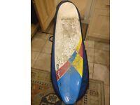 Natural Rhythm Bomber Surfboard Longboard Mini Mal 7`6 Need Fin box repair