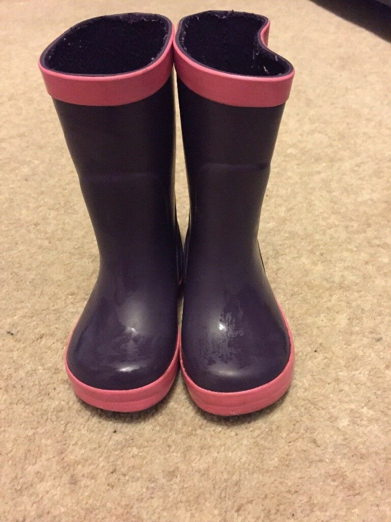 Purple and pink jo jo maman Bebe size 3 infant wellies