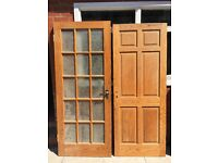 Solid Oak doors - £25 each