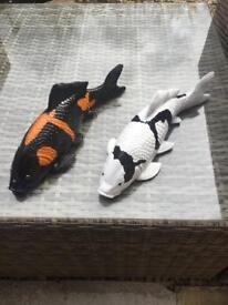 Koi ornament, pond fish.